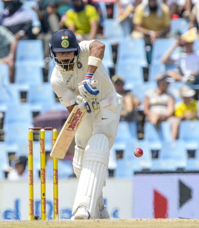 Virat Kohli 85 South Africa India 2nd Test 2nd day cricket