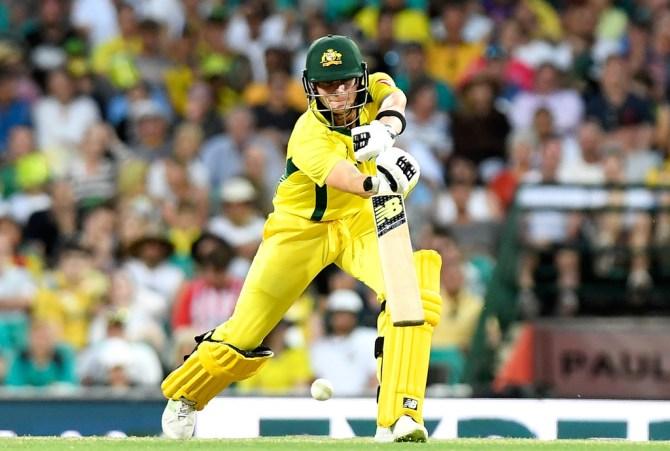 Steve Smith big score Australia England 5th ODI Perth Optus Stadium cricket