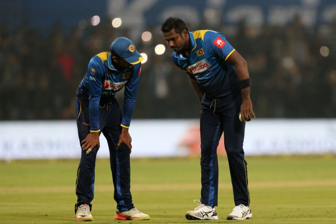 Angelo Mathews ruled out Nidahas Trophy Sri Lanka India Bangladesh T20 tri-series cricket