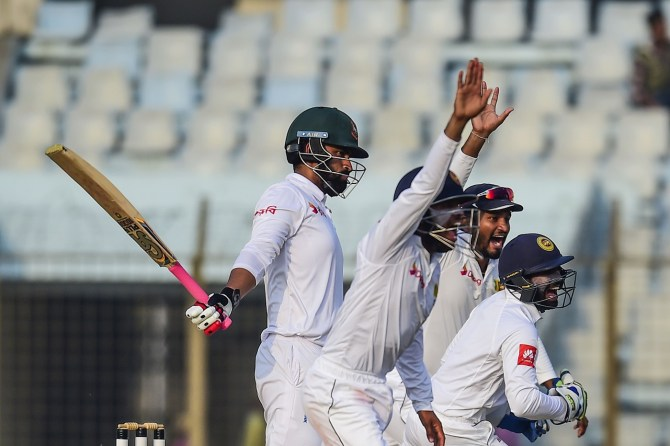Sri Lanka dismiss Imrul Kayes Tamim Iqbal Mushfiqur Rahim 1st Test Day 4 Chittagong cricket