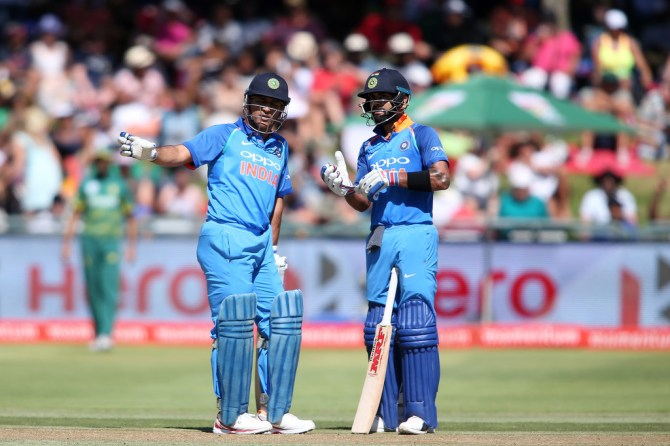 Virender Sehwag Virat Kohli MS Dhoni bat higher up India cricket