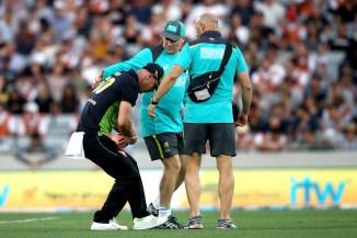 Chris Lynn dislocated right shoulder New Zealand Australia T20 tri-series final Auckland cricket