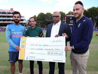 India South Africa Virat Kohli Faf du Plessis donate 100,000 Rand Cape Town drought water crisis cricket