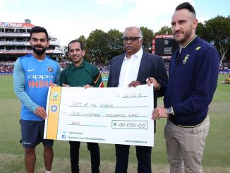 India South Africa Virat Kohli Faf du Plessis donate 100,000 Rand Cape Town drought water crisis cricket