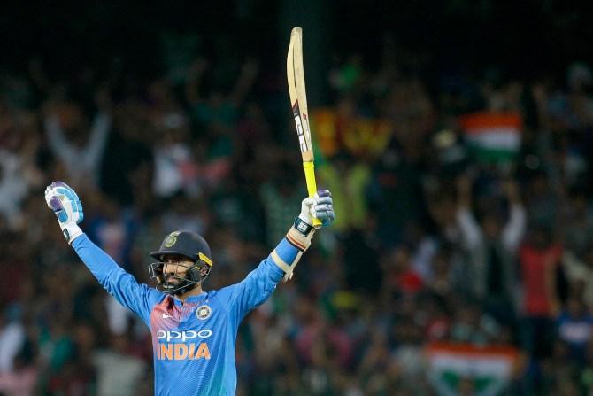 Dinesh Karthik 28 not out last-ball six India Bangladesh Nidahas Trophy final cricket