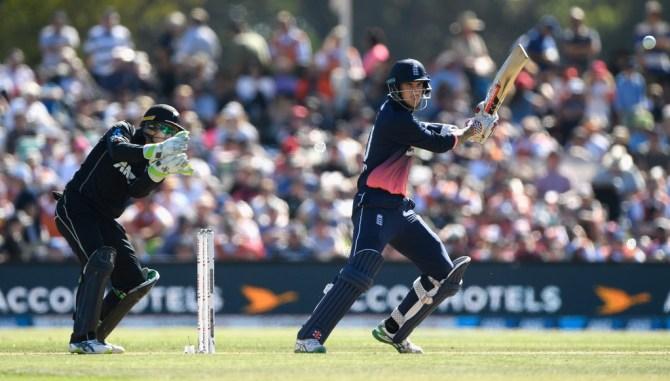 Alex Hales 61 New Zealand England 5th ODI Christchurch cricket