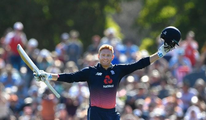 Jonny Bairstow 104 New Zealand England 5th ODI Christchurch cricket