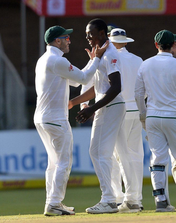 Kagiso Rabada six wickets South Africa Australia 2nd Test Day 4 Port Elizabeth cricket