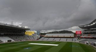 Heavy rain New Zealand England 1st Test Day 3 Auckland cricket