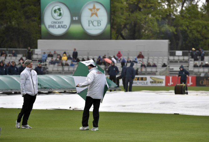 Rain ruins opening day Ireland Test debut Pakistan Dublin Only Test Day 1 cricket
