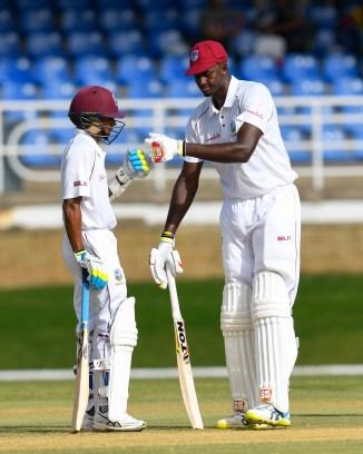 Shane Dowrich 46 not out Jason Holder 40 West Indies Sri Lanka 1st Test Day 1 Trinidad cricket