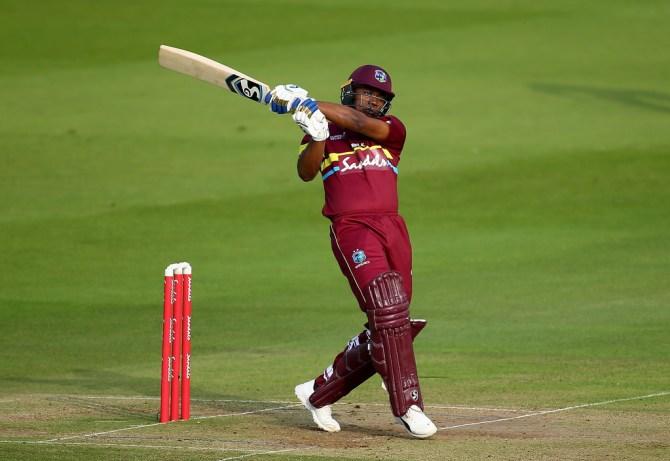 Evin Lewis 58 West Indies ICC World XI Hurricane Relief T20 Challenge Lord's cricket