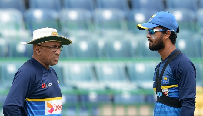Dinesh Chandimal,  Chandika Hathurusingha and Asanka Gurusinha miss Test series South Africa Sri Lanka cricket