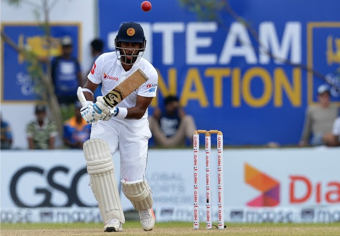 Dimuth Karunarate 60 Sri Lanka South Africa 1st Test Day 2 Galle cricket