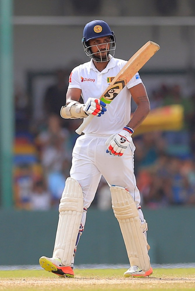 Danushka Gunathilaka 61 Sri Lanka South Africa 2nd Test Day 2 Colombo cricket