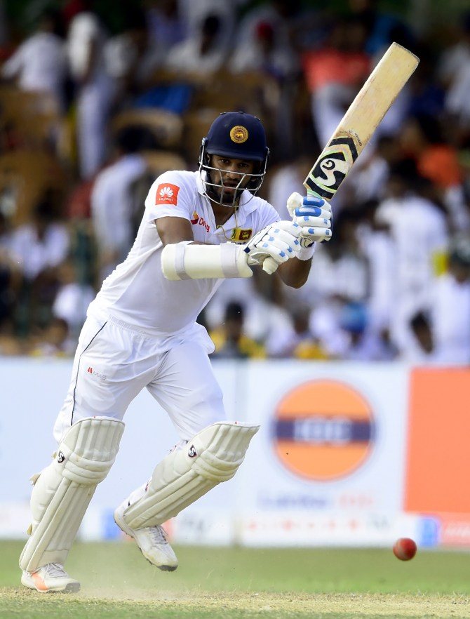 Dimuth Karunaratne 59 not out Sri Lanka South Africa 2nd Test Day 2 Colombo cricket