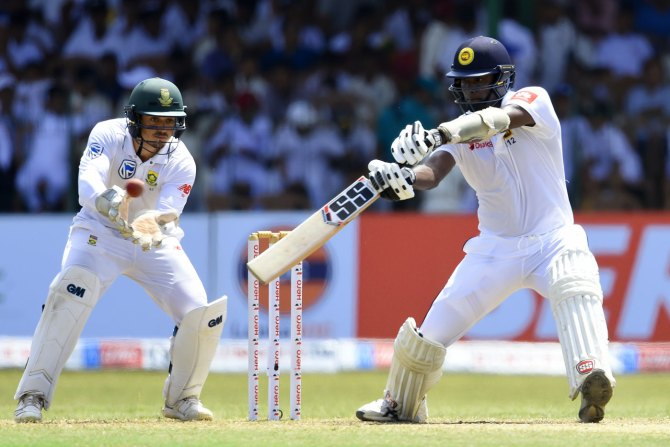 Angelo Mathews 71 Sri Lanka South Africa 2nd Test Day 3 Colombo cricket