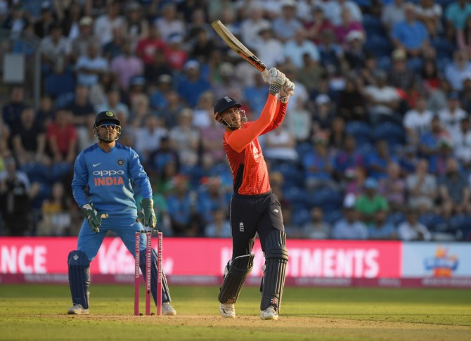 Alex Hales 58 not out England India 2nd T20 Cardiff cricket