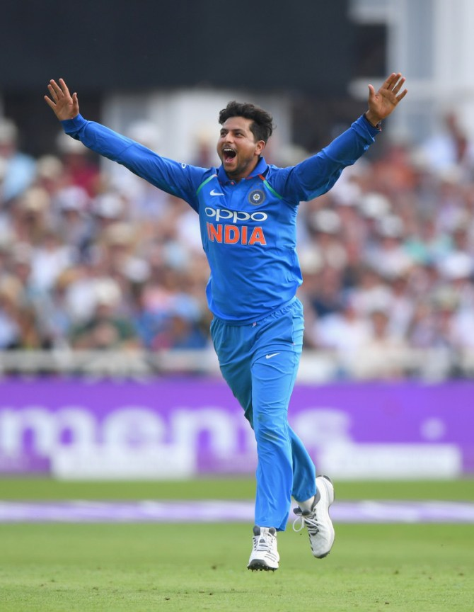 Kuldeep Yadav six wickets England India 1st ODI Nottingham cricket