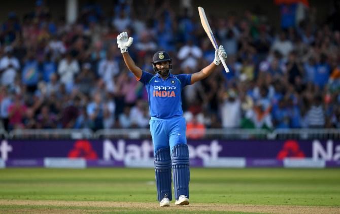 Rohit Sharma 137 not out England India 1st ODI Nottingham cricket