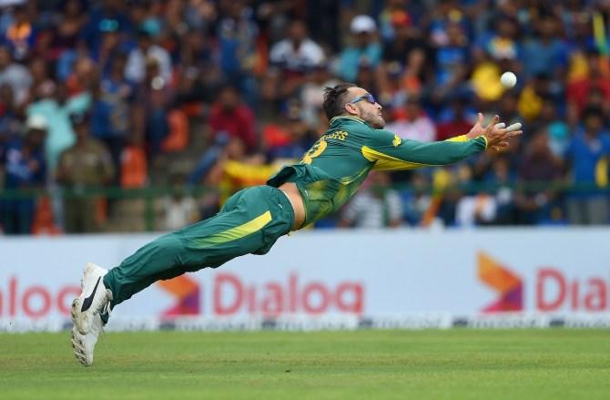 Faf du Plessis sidelined up to six weeks shoulder injury South Africa Sri Lanka cricket