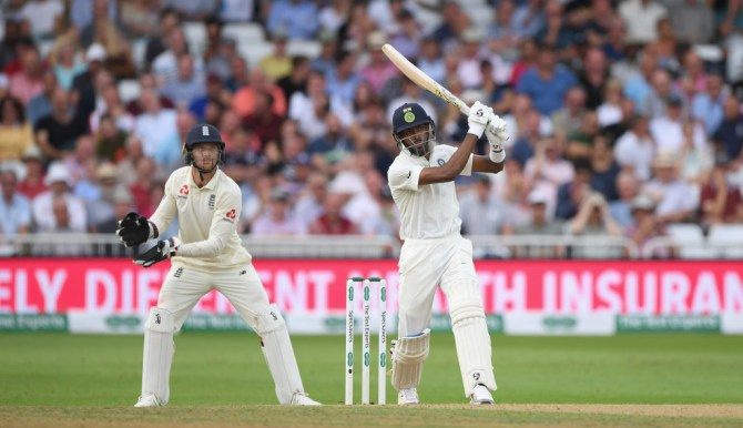 Hardik Pandya 52 not out England India 3rd Test Day 3 Nottingham cricket