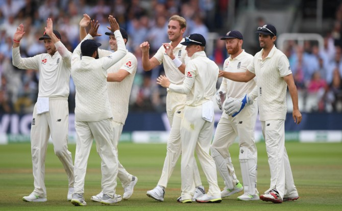 Stuart Broad four wickets England India 2nd Test Day 4 Lord's cricket