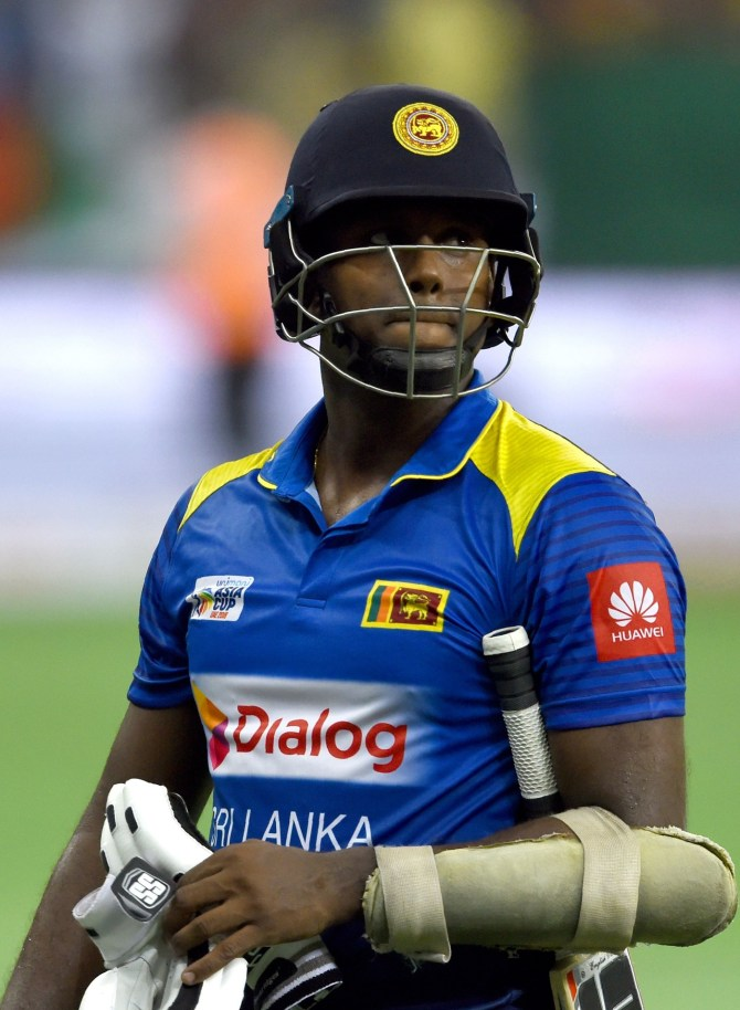 Sri Lanka Cricket confirm Angelo Mathews dropped ODI series England