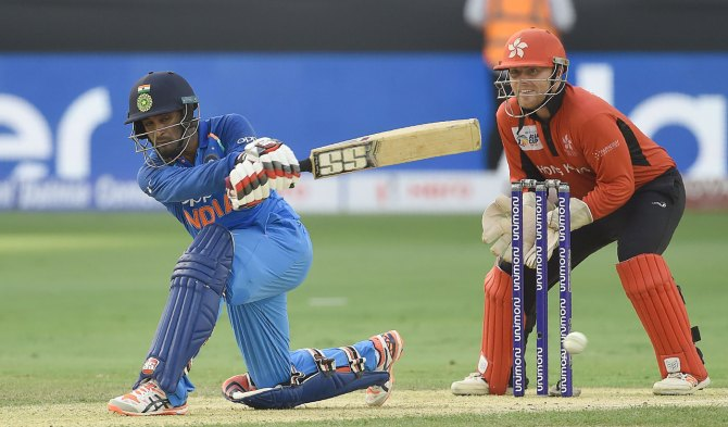 Ambati Rayudu 60 India Hong Kong Asia Cup Dubai cricket