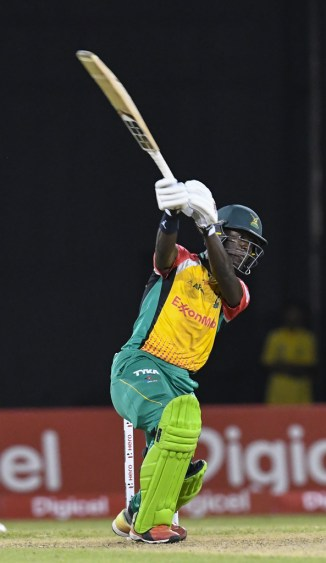 Sherfane Rutherford 45 not out Guyana Amazon Warriors Trinbago Knight Riders Caribbean Premier League CPL cricket