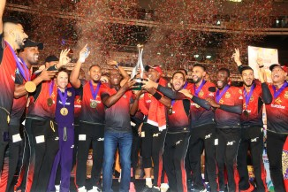 Colin Munro 68 not out Trinbago Knight Riders crowned Caribbean Premier League CPL champions after beating Guyana Amazon Warriors in the final cricket