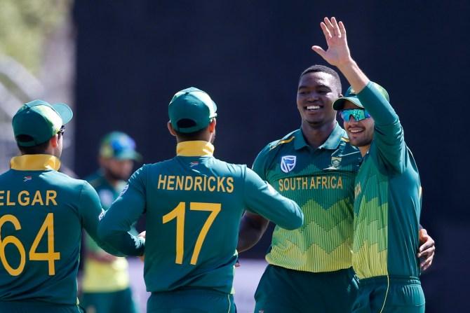 Lungi Ngidi three wickets South Africa Zimbabwe 1st ODI Kimberley cricket