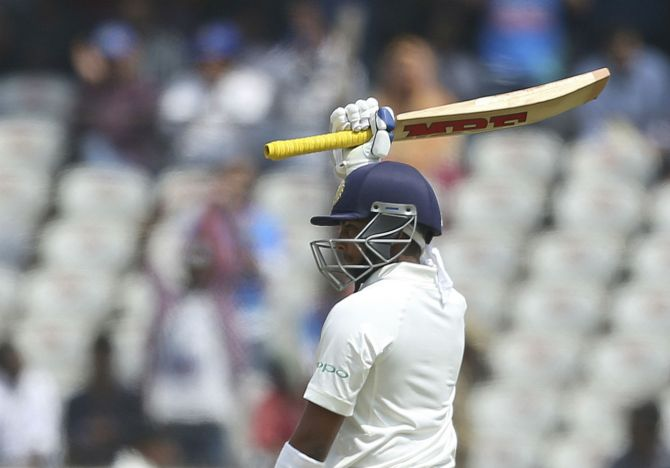 Prithvi Shaw 70 India West Indies 2nd Test Day 2 Hyderabad cricket