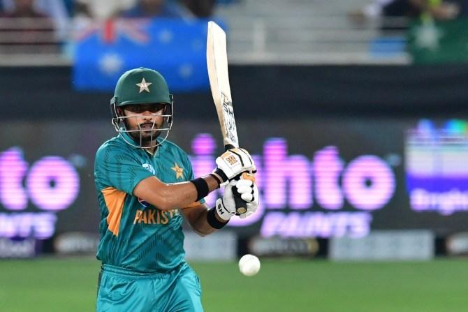 Babar Azam 50 Pakistan Australia 3rd T20 Dubai cricket