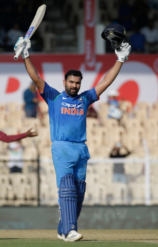 Rohit Sharma 162 India West Indies 4th ODI Mumbai cricket