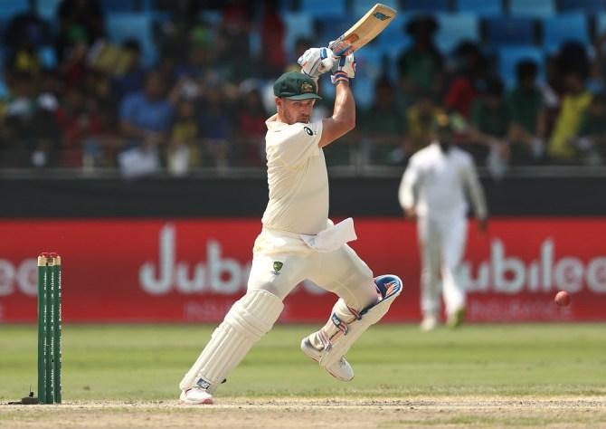 Aaron Finch 62 Pakistan Australia 1st Test Day 3 Dubai cricket