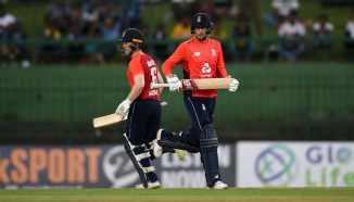 Eoin Morgan Joe Root 56-run partnership Sri Lanka England 4th ODI Pallekele cricket