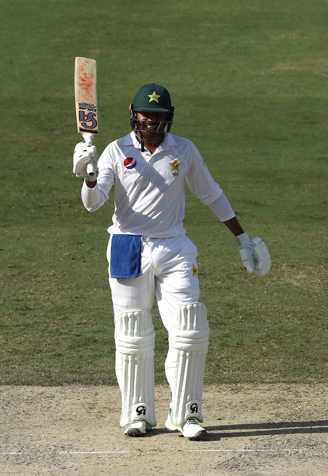 Haris Sohail 110 Pakistan Australia 1st Test Day 2 Dubai cricket