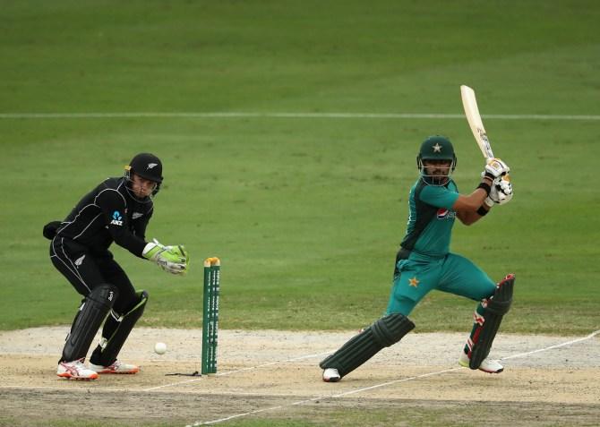 Babar Azam 92 Pakistan New Zealand 3rd ODI Dubai cricket