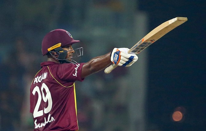 Nicholas Pooran 53 not out India West Indies 3rd T20 Chennai cricket
