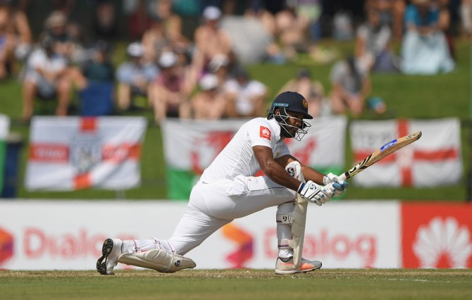 Dimuth Karunaratne 63 Sri Lanka England 2nd Test Day 2 Kandy cricket