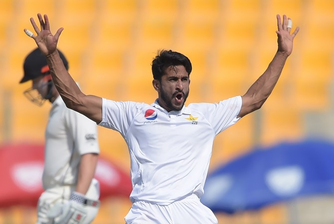 Hasan Ali five wickets Pakistan New Zealand 1st Test Day 3 Abu Dhabi cricket