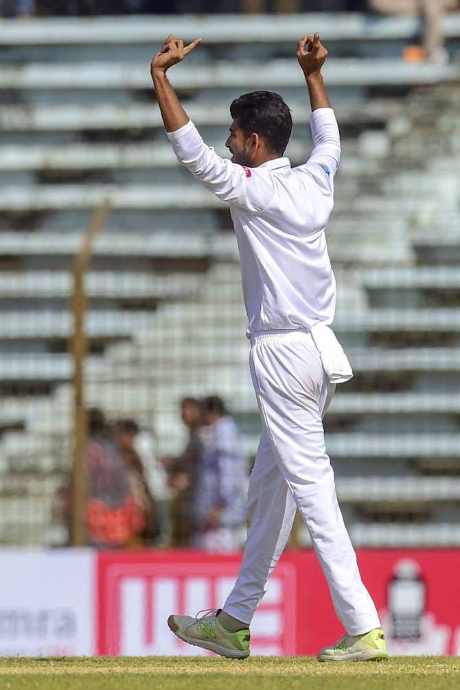 Nayeem Hasan five wickets Bangladesh West Indies 1st Test Day 2 Chittagong cricket