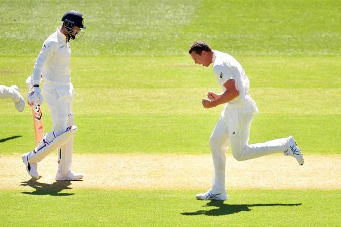 Australia bowlers torment India batsmen 1st Test Day 1 Adelaide cricket