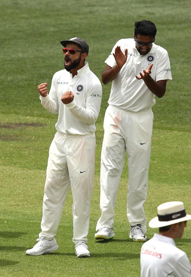 Ravichandran Ashwin three wickets Australia India 1st Test Day 2 Adelaide cricket