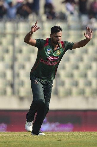 Mashrafe Mortaza three wickets Bangladesh West Indies 1st ODI Dhaka cricket