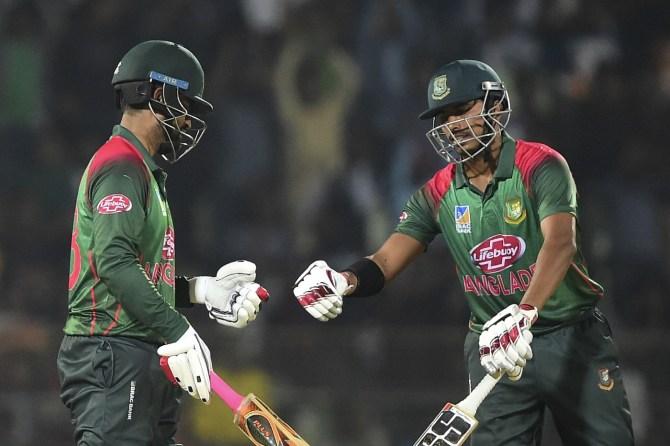 Tamim Iqbal 81 not out Soumya Sarkar 80 Bangladesh West Indies 3rd ODI Sylhet cricket