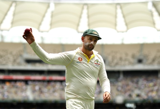 Nathan Lyon five wickets Australia India 2nd Test Day 3 Perth cricket