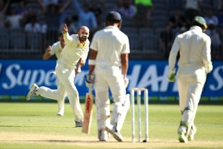 Nathan Lyon two wickets Australia India 2nd Test Day 4 Perth cricket