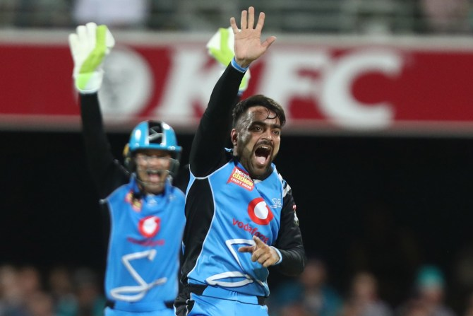 Rashid Khan three wickets Adelaide Strikers Brisbane Heat Big Bash League BBL 1st Match cricket